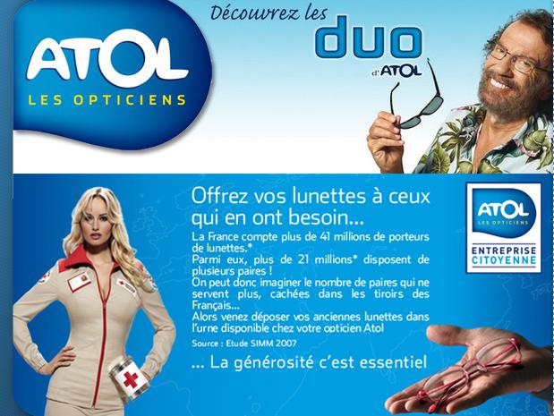 Atol, les Opticiens - Studio Créatif Imagein 30934bbfb850